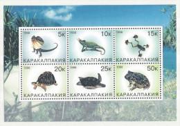 REPUBLIQUE KARAKALPAKIA   Batraciens Et Reptiles - Stickers