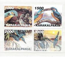 REPUBLIQUE KARAKALPAKIA     Faune  Oiseaux Divers - Stickers