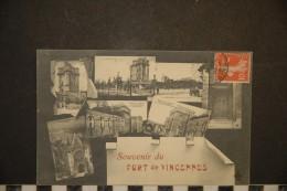 CP, 94, Vincennes Souvenir Du Fort De Vincennes Multivues Cpa 1907 - Vincennes