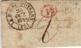 ISERE - Le Bourg D'Oysans - Lettre à Grenoble  -CAD Type 13- 1d+H TM2 N - 1834 - 1801-1848: Precursors XIX