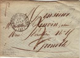 ISERE - Le Bourg D´Oysans - Enveloppe  -CAD Type 13-TM3 N - 1841 - 1801-1848: Precursors XIX