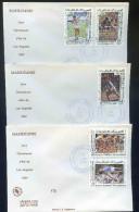 PJM173 - Mauritanie - 3 Env. Jeux Olympiques De Los Angeles - 1984 - 5 Juillet 1984 - Mauritanië (1960-...)