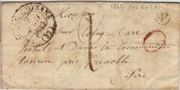 ISERE - Le Bourg D´Oysans - Lettre Avec Correspondance  -CAD Type 13-1d+P TM2 N - 1842 - 1801-1848: Precursors XIX