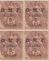 Cilicie,1920 2 Paras En Bloc De 4,neufs Ier Choix Sans Char-voir 2ne Scan Verso-