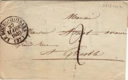 ISERE - Le Bourg D´Oysans - Lettre Avec Correspondance  -CAD Type 13- TM2 N - 1849 - Postmark Collection (Covers)