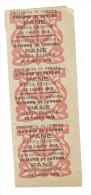 Provincia Di Gnova Comune Di Savona Pane Mezza Razione 16 - 18 - 20 Luglio 1918  Blocco Di 3 Tagliandi    LOTTO 753 - Altri