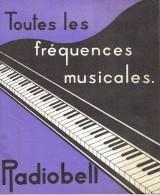 Dépliant Publicitaire + Tarif De 1934 Récepteurs Radio RADIOBELL 5 - 6 - 7 Fabriqués Par BELL TELEPHONE à ANTWERPEN - Publicités