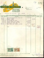 Factuur Facture Brief Lettre  - Albert De Brauwer - Glas Gent 1953 - Belgique