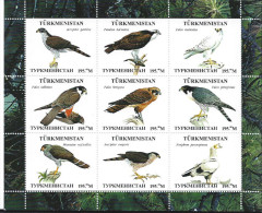 TURKMENISTAN      Oiseaux - Stickers