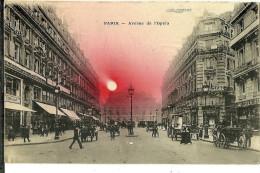 75 CPA Paris Avenue De L Opera Animation - Andere Monumenten, Gebouwen