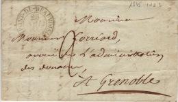 ISERE - Le Pont De Beauvoisin - Lettre Avec Correspondance - CAD Type 13- TM2 N- 1835 - Marcophilie (Lettres)