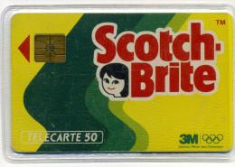 F225C Scotch-brite 50 Unités 01/92 3 Numéros Gras B1B28B (1 & 28) (lot 19) - Télécartes
