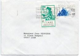 LYON : Grève Gnafron Sur Enveloppe - Strike Stamps