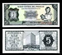 Paraguay, 5 Guaranies L. 1952, P-195  UNC - Paraguay