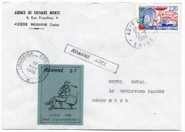 ROANNE : Grève - Strike Stamps