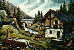 """CP  -   Illustration Canova -   Images De Chez Nous - """"Chalet Typique De Nos Montagnes"""" - Illustrateurs & Photographes"""