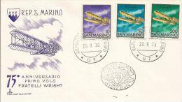 1978 AVIAZIONE 75° FRATELLI WRIGHT FDC SAN MARINO CAPITOLIUM - FDC