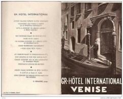 PLAN POURGR-HOTEL INTERNATIONAL VENISE,VUES DES CHAMBRES REF 3020 - Pubblicitari