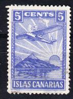 ISLAS CANARIAS 5 CTS. AZUL PAPEL OPACO.  SES 359 - Emisiones Nacionalistas