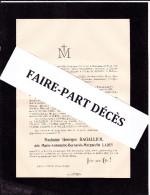 Faire-part Décès Mme Georges DAGALLIER, Née Marie-Antoinette-Bernarde-Marguerite LADEY, Dijon, 1907 - Esquela