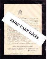 Faire-part Décès M. Jean-Josephe-Georges DAGALLIER, Genève, 1889 - Décès