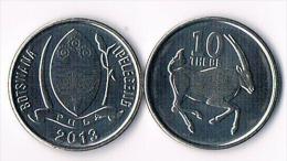 Botswana  10 Thebe  2013 - Botswana