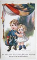 Litho Chromo Militaria Fantaisie Illustrateur SPURGIN Comrade Duo Patriotique Belgique - Spurgin, Fred