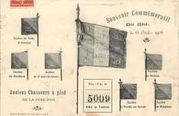 Ref A142- Militaires Militaria -regiments - Anciens Chasseurs A Pied De La Cote D Or -drapeaux -regiments - - France