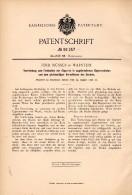 Original Patentschrift - Ferd. Müssen In Warstein B. Soest , 1896 , Vorrichtung Für Cigarrenkisten , Cigarre , Tabak !!! - Zigarrenkisten (leer)