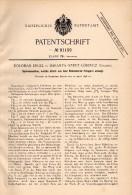 Original Patentschrift - Koloman Engel In Szentlörinc / Baranya , 1896 , Spinnmaschine Für Feingarn , Spinnerei !!! - Maschinen
