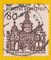 1964- 65 - Europe - Allemagne Porte D' Ellingen à Weissenburg - ( Bavière)  - 80 P. Sépia - YT 328 - - Gebraucht