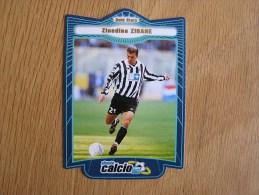 CALCIO 2000 GOLD STARS Zinedine Zidane Trading Cards Football Italia Italie Carte Collection - Trading Cards