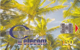 Cape Verde,CPV -17, Palm Trees - Coqueiros II, 2 Scans. - Kapverden