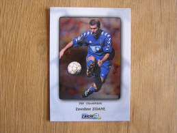 CALCIO 2000 Top Champions Zinedine Zidane Trading Cards Football Italia Italie Carte Collection - Other Playing Cards