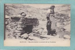 SLIVICA  -  MACEDONIENNE  REVENANT  DE  LA  FONTAINE  -  1918  -  BELLE CARTE - - Yugoslavia