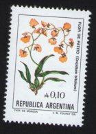 Argentine Timbre Stamp Flor De Patito Oncidium Bifolium - Pflanzen Und Botanik