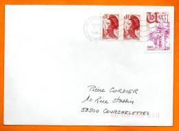 MAURY N° 1872  USSEL  Lettre Entière N°  S 94 - Marcofilia (sobres)