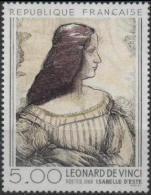 FRANCE Poste 2446 ** Tableau De Léonard De VINCI : Portrait D´Isabelle D´Este Peintre Peinture - France