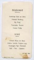 Menu Du 26 Juin 1964---Mauduit Traiteur à NANTES--44--Vins--Champagne Piper Heidsieck--Chateau Léoville Poyferre 1955--- - Menus