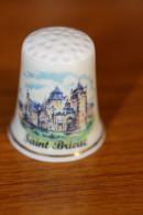 """Dé à Coudre Porcelaine """"Saint Brieuc"""" Côtes D'Armor - Bretagne - Ditali Da Cucito"""