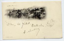 "Alg�rie--BONE (ANNABA)--1902--La Darse  �d  J.Geiser--carte pr�curseur type ""nuage""--Beaux cachets BONE-St JEAN d'ANGELY"