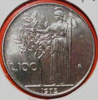 100 LIRE 1973 MINERVA  RARA ITALIEN FDC( FIOR DI CONIO STEMPELGLANZ-UNCIRCULATE D) DIREKTKAUF - 1946-…: Republik