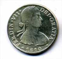 FAUX ECUS ESPAGNE FERDINAN VII 1810 PLAQUE ARGENT - Autres – Europe