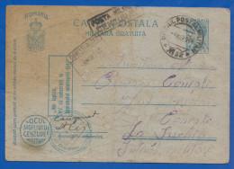 Rumänien; Carte Postala Militara Gratuita; 1944 Mit Stempel Cenzurat - Enteros Postales