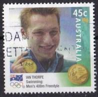 Australia 2000 Olympic Gold Medallists 45c Thorpe Swimming 400m Used - - 2000-09 Elizabeth II