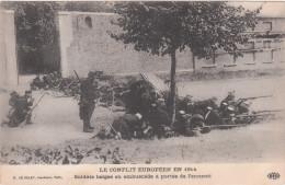 Carte Postale Ancienne - Le Conflit Européens En 1914 - Soldats Belges En Embuscade à Portée De L'ennemi - Otros