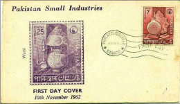 Pakistan Small Textile Business Industries First Day Cover 1962