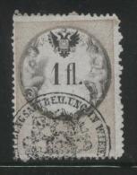 AUSTRIA 1866 REVENUE 1FL WHITE PAPER  NO WMK PERF 12.00 X 12,00 BAREFOOT 145 (A) - Fiscaux