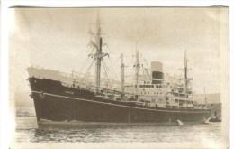"""CPSM TRANSPORT BATEAU PAQUEBOT - Compagnie Des Messageries Maritimes : Le Navire De Charge """"Indus"""" - Barche"""