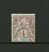"SAINT PIERRE § MIQUELON   1892   N° 61  "" Type Blanc ""   Neuf Avec Trace - Unused Stamps"